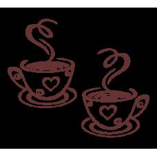Šálky s horkou kávou