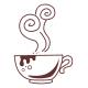 Šálek s horkou kávou (1 - 3 ks v sadě)