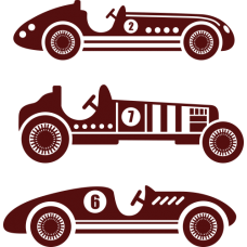 Sada historických automobilů