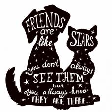 Přátelé jsou jako hvězdy - Anglicky