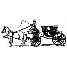 Koňské spřežení s kočárem