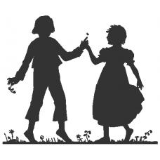 Tančící pár na louce