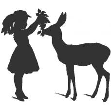 Dívka a srnec