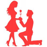 Zamilovaný pár - vyznání lásky