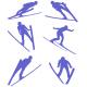 Siluety skokanů na lyžích