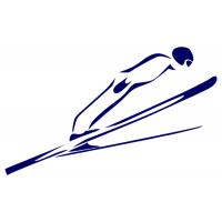 Silueta skokan na lyžích 2