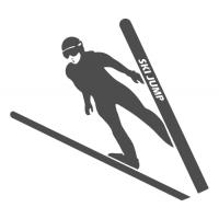 Silueta skokan na lyžích 3