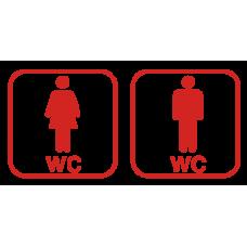Sada pro označení dveří WC