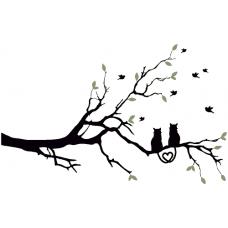 Zamilované kočky na větvi