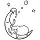 Ovce spící na měsíci
