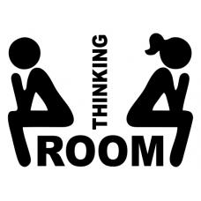 Thinking Room - samolepka na dveře WC