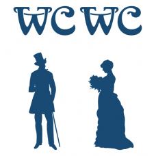 Samolepka na dveře WC - starý styl - Muž + Žena samostatně