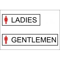 Ladies Gentlemen - samolepka na dveře WC