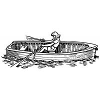 Žena na lodi