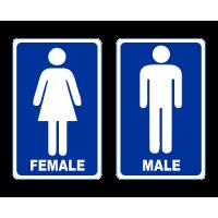 Označení dveří WC - Female - Male