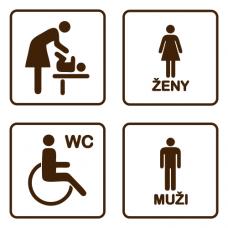 Označení dveří WC - sada - CZ