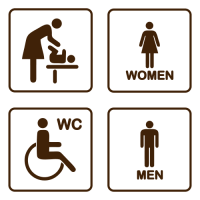 Označení dveří WC - sada - EN