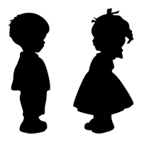 Označení dveří WC - Chlapec - Dívka