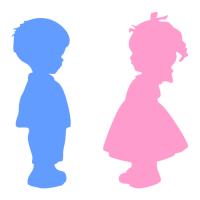 Označení dveří WC - Chlapec - Dívka - 2 barvy