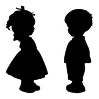Označení dveří WC - Dívka - Chlapec