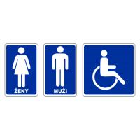 Označení dveří WC - Ženy - Muži - Vozíčkáři