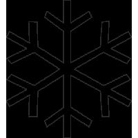Sněhová vločka 10 ks - vhodná na okno z venku