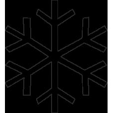 Sněhová vločka 10 ks - na zeď, okno