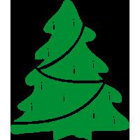 Vánoční stromek se svíčkami