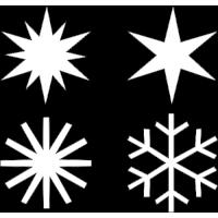 sada sněhová vločka + hvězdy 20 ks - na zeď, okno