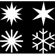 sada sněhová vločka + hvězdy 20 ks