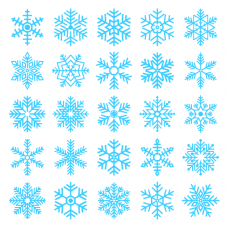 Sada - sněhová vločka 20 ks - různé