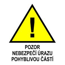Nebezpečí úrazu pohyblivou částí