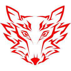 Samolepka na auto - Vlk