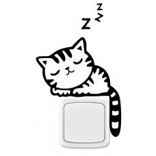 Kočka na vypínač 2 ks v sadě